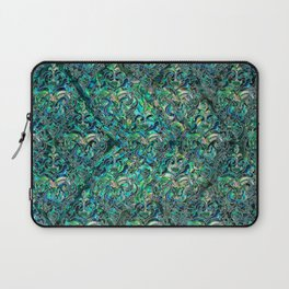 Persian Oriental pattern abalone and silver Laptop Sleeve