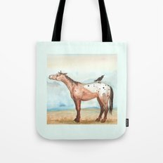 Sky and Crow Tote Bag