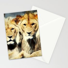 lion's harmoni Stationery Cards