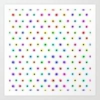 polka Art Prints featuring POLKA by Rceeh