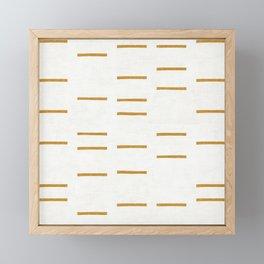 OCHRE LINE Framed Mini Art Print