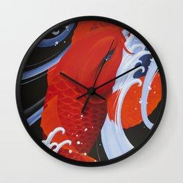 Water Eye Koi Wall Clock