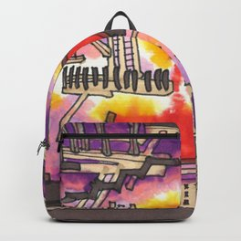 Industrial Steel Architectural Illustration Backpack