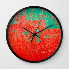 Mr Green And Mrs Orange Wall Clock