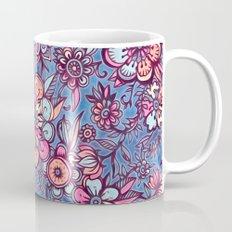 Sweet Spring Floral - soft indigo & candy pastels Mug