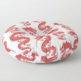 Chinese Dragon – Crimson Palette Floor Pillow