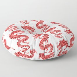 Chinese Dragon – Crimson Palette Floor Pillow