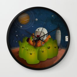 Welcome to mars! Wall Clock