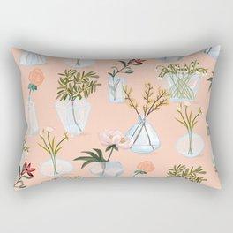 Floral Vases Rectangular Pillow