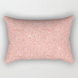 Rose Gold Glitter Rectangular Pillow