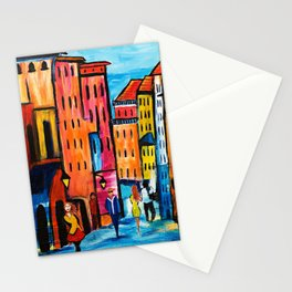 Afternoon Walk Downtown Stationery Cards