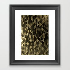 Gold triangles Framed Art Print