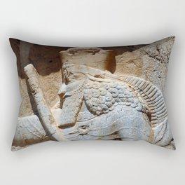 King Ardashir Reliev Portrait Detail, Persia, Iran Rectangular Pillow