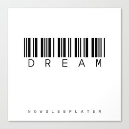 barcode DREAM Canvas Print