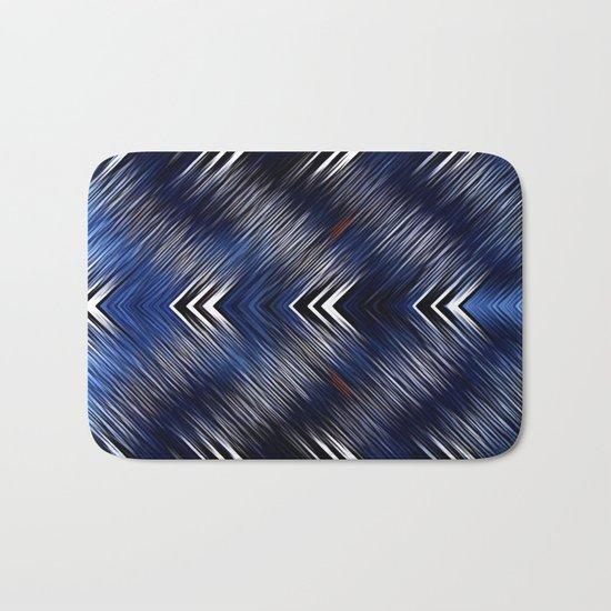 Abstract #Blue #Black #1 #art #society6 Bath Mat
