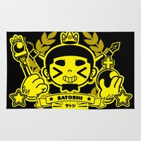 persona Area & Throw Rugs featuring Satoshi is King by Satoshi-san