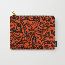 modern scramble, black and red Carry-All Pouch