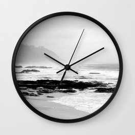 Against the Rocks Wall Clock