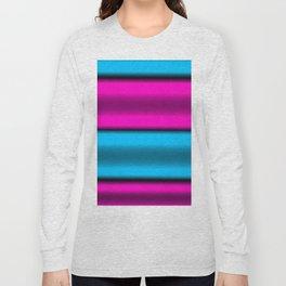 Pink & Blue Horizontal Stripes Long Sleeve T-shirt
