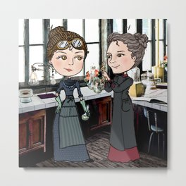 Woman in Science: The Curies Metal Print