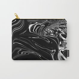 Black Marble Silk Carry-All Pouch