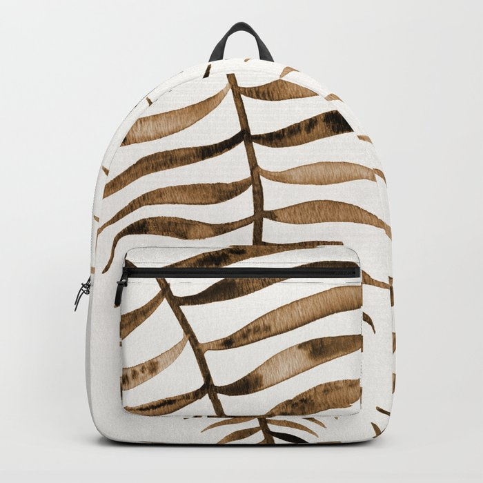 Palm Leaf – Sepia Backpack