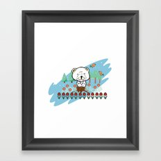 Chow Chow in the forest Framed Art Print