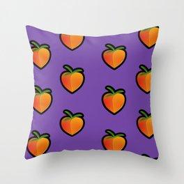 Georgia Peach (Purple) Throw Pillow