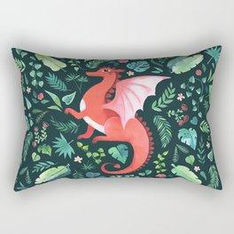 Tropical Dragon Rectangular Pillow
