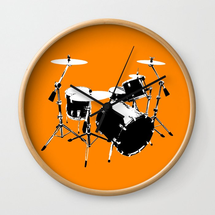 Drumkit Silhouette (frontview) Wall Clock