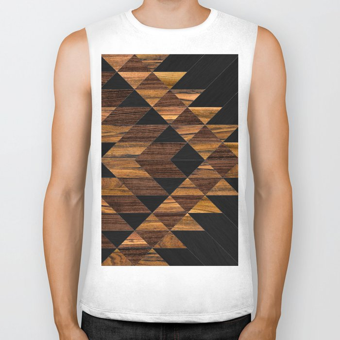 Urban Tribal Pattern 11 - Aztec - Wood Biker Tank