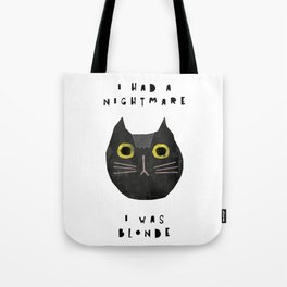Blonde cat / poster, cat, art print, pictures, scandinavian, nursery, deco, family, art, animal, cat Tote Bag