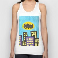bat Tank Tops featuring Bat by Marialaura