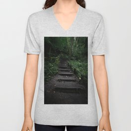 Surreal Magical Forest - Study II Unisex V-Neck