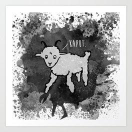 Mon Mouton Art Print