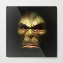 Orc face Metal Print