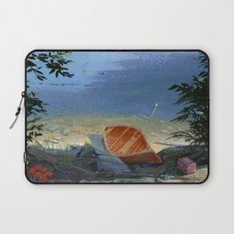 canoe on shore Laptop Sleeve