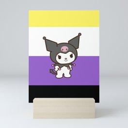 Non-Binary Flag Kuromi Mini Art Print
