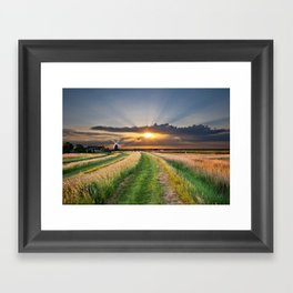 mill on the marsh Framed Art Print