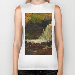 Tom Thomson Woodland Waterfall Canadian Landscape Artist Biker Tank