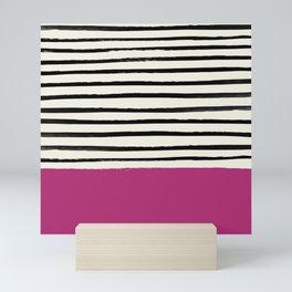 Raspberry x Stripes Mini Art Print