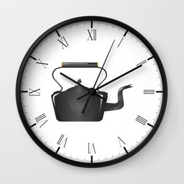 Victorian Cast Iron Kettle Wall Clock