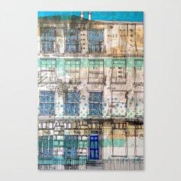 Edinburgh house Canvas Print