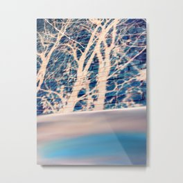 Brick trees and digital drawing Metal Print