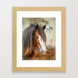 Clydesdale Country Framed Art Print