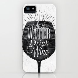 Vintage wine iPhone Case