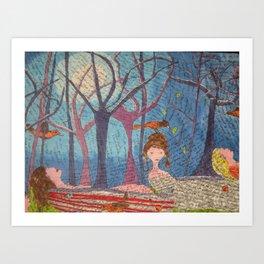 Moon Bathe Art Print