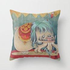 DANCING SCAREDY MONSTER Throw Pillow