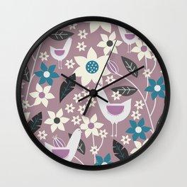 Rooster garden Wall Clock