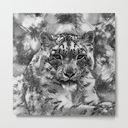 AnimalArtBW_Leopard_20170601_by_JAMColorsSpecial Metal Print